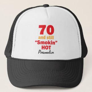 Boné 70 e ainda de 70 de Smokin   aniversário quente