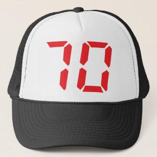 Boné 70 número digital do despertador de setenta