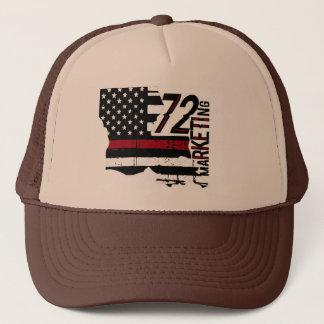 Boné 72marketing diluem a linha vermelha chapéu