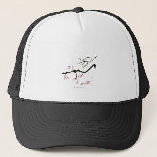 Boné 7 flores com pássaro cor-de-rosa, fernandes tony