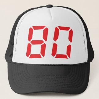 Boné 80 número digital do despertador de oitenta