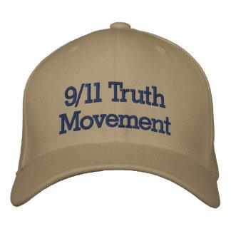 Boné 9/11 de chapéu bordado movimento da verdade