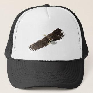 Boné A águia americana com as asas em para baixo afaga