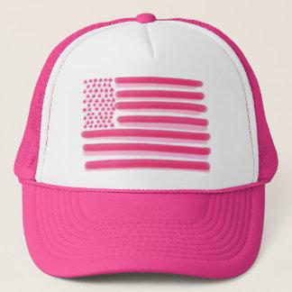 Boné A bandeira americana cor-de-rosa stars o chapéu