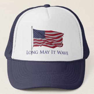Boné a bandeira americana patriótica   por muito tempo