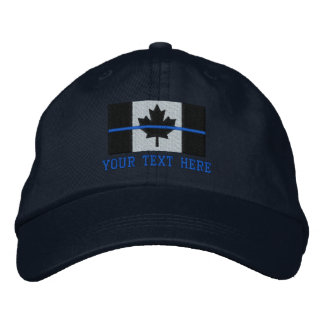 Boné A bandeira canadense fina de Blue Line