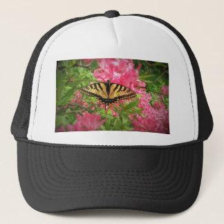 Boné A borboleta de Swallowtail senta-se em azáleas