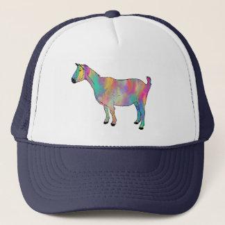 Boné A cabra Multicoloured com pintura Splatters a arte