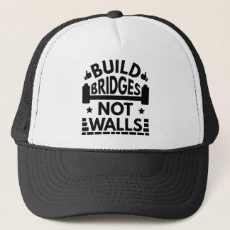 Boné A construção constrói uma ponte sobre não paredes