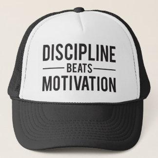 Boné A disciplina bate a motivação - inspirada