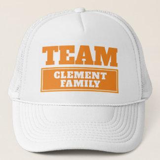 Boné A equipe alaranjada personalizou o nome da equipe
