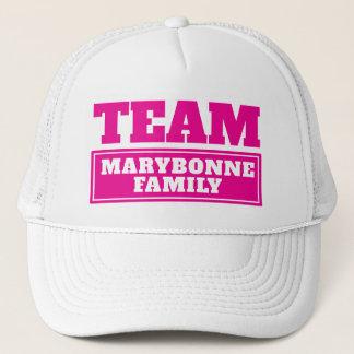 Boné A equipe cor-de-rosa personalizou o nome da equipe