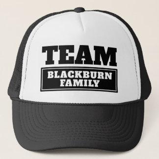 Boné A equipe preta personalizou o nome da equipe ou o