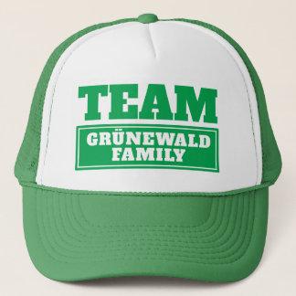 Boné A equipe verde personalizou o nome da equipe ou o
