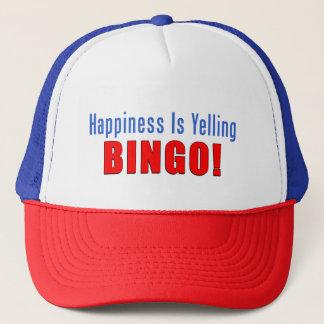 Boné A felicidade está gritando o chapéu do camionista