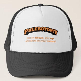 Boné A flebotomia/senta-se para baixo