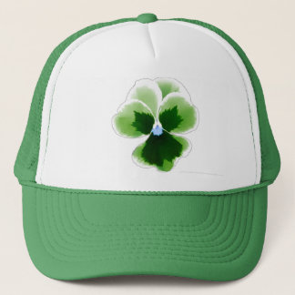 Boné A flor verde do amor perfeito editável adiciona