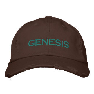 "Boné A ""génese"" afligiu o chapéu bordado Brown"