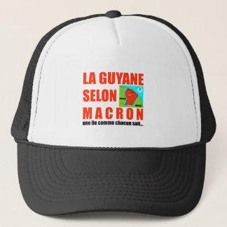 Boné A Guiana de acordo com Macron é uma ilha