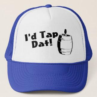 Boné A identificação bate o barril de cerveja de Dat