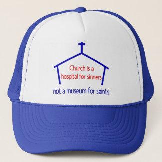 Boné A igreja é um hospital para pecadores, não um