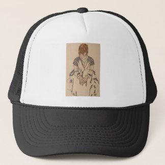 Boné A irmã do artista de Egon Schiele- na lei