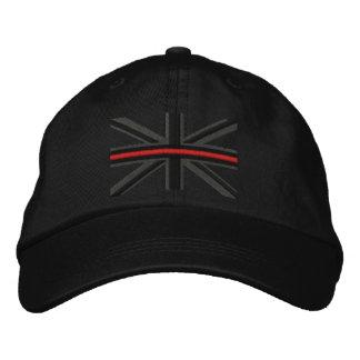 Boné A linha vermelha fina simbólica na bandeira