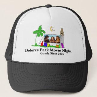 Boné A noite de cinema do parque de Dolores, tempera o