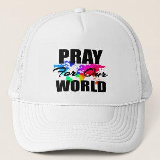 Boné A oração cristã do mundo da fé Pray para nosso