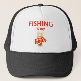 Boné A pesca é meu happy hour