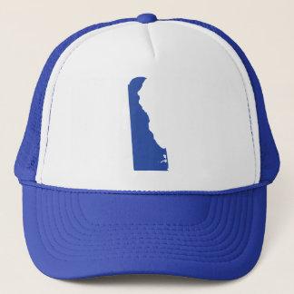 Boné A pressão azul do estado de Delaware para trás