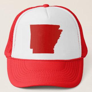 Boné A pressão do vermelho de Arkansas para trás