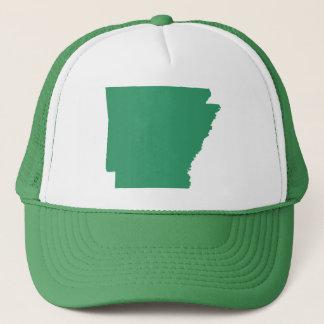 Boné A pressão verde do estado de Arkansas para trás