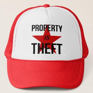 Boné A propriedade é roubo - comunista socialista do
