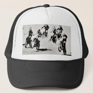 Boné A raça está ligada - pilotos do motocross