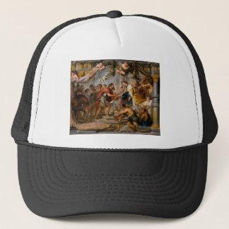 Boné A reunião de Abraham e de arte de Melchizedek