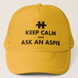 Boné a síndrome dos aspergers mantem a calma para pedir