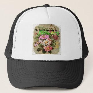 Boné A terra ri nas flores