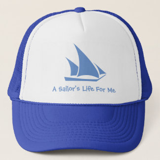 Boné A vida de um marinheiro para mim. Um chapéu para o