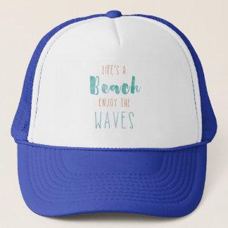 Boné A vida é uma praia