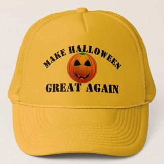 Boné Abóbora americana engraçada o Dia das Bruxas