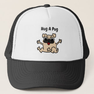 Boné Abrace um chapéu do cão do Pug