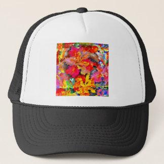 Boné Abstrato floral da íris