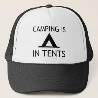 Boné Acampar está na chalaça engraçada das barracas