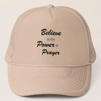 Boné Acredite no poder da oração, camionista teve