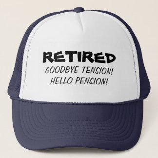 Boné Adeus chapéu engraçado da aposentadoria da pensão