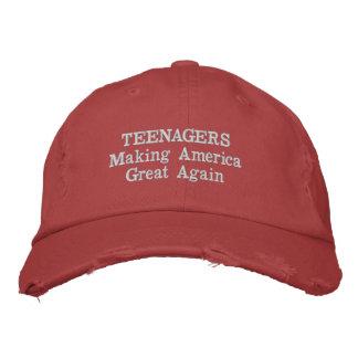 Boné Adolescentes que fazem o excelente de América