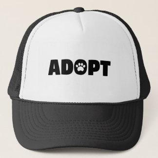 Boné Adote o chapéu do camionista do cão do salvamento