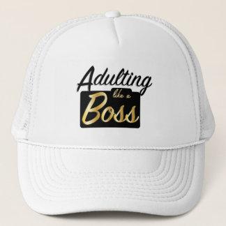 Boné Adulting gosta de um chapéu do chefe |