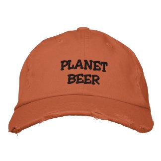 Boné afligido cerveja do planeta (alaranjado)